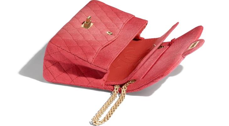 image 3 - Bolsa 2.55 - Jeans & Metal Dourado - Coral
