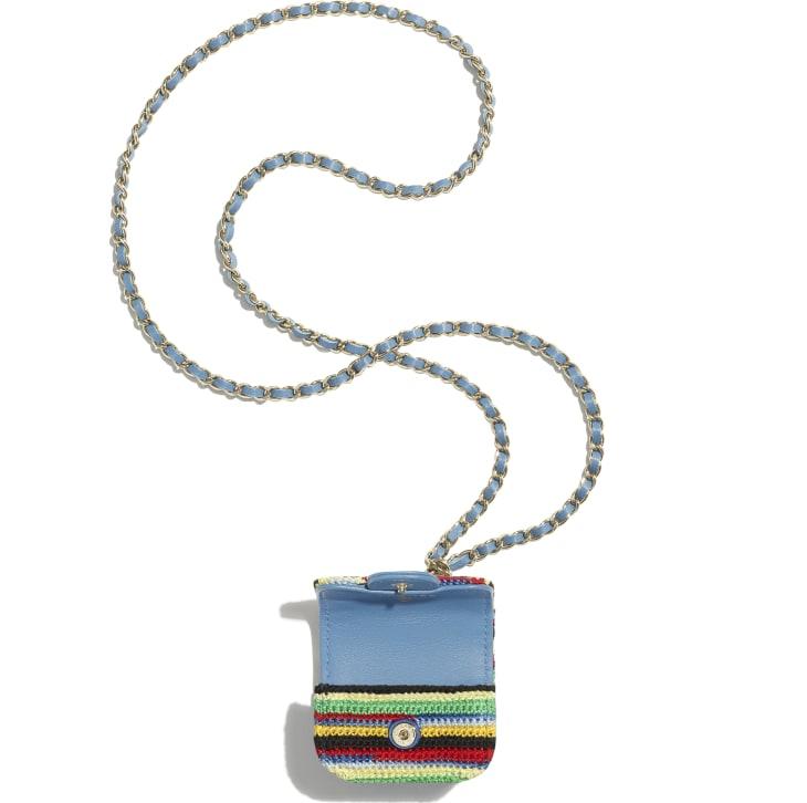 image 2 - Case AirPods Pro - Embroidered Crochet & Gold-Tone Metal - Multicolorido