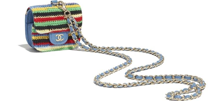 image 3 - Case AirPods Pro - Embroidered Crochet & Gold-Tone Metal - Multicolorido