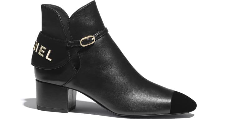 image 1 - Ankle Boots - Lambskin & Velvet - Black