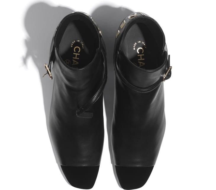 image 3 - Ankle Boots - Lambskin & Velvet - Black