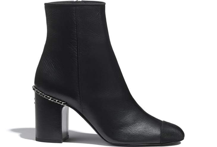 image 1 - Ankle Boots - Laminated Lambskin & Grosgrain - Black