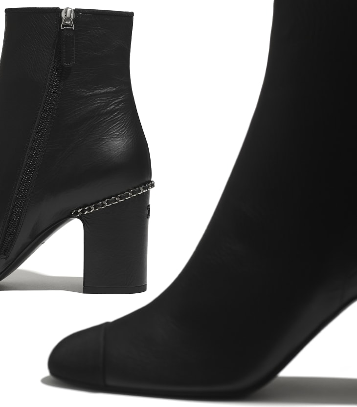 image 4 - Ankle Boots - Laminated Lambskin & Grosgrain - Black