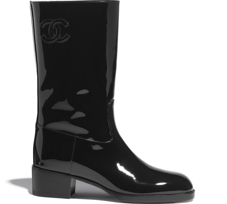 image 1 - Ankle Boots - Patent Calfskin - Black
