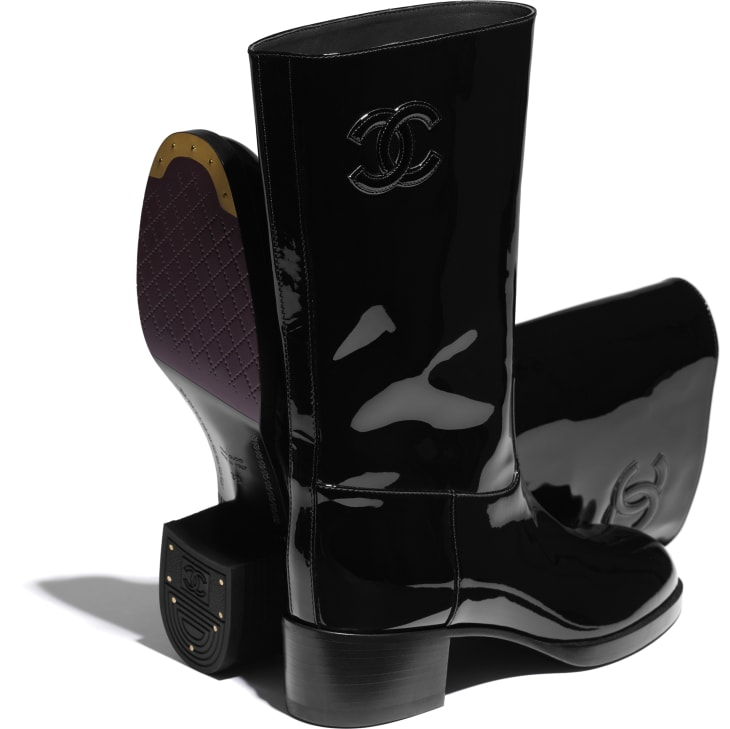 image 4 - Ankle Boots - Patent Calfskin - Black