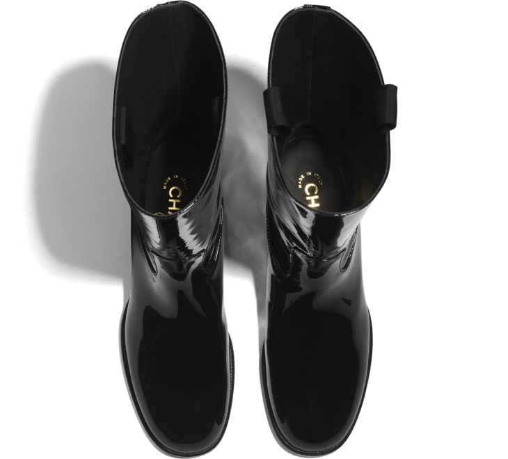 image 3 - Ankle Boots - Patent Calfskin - Black