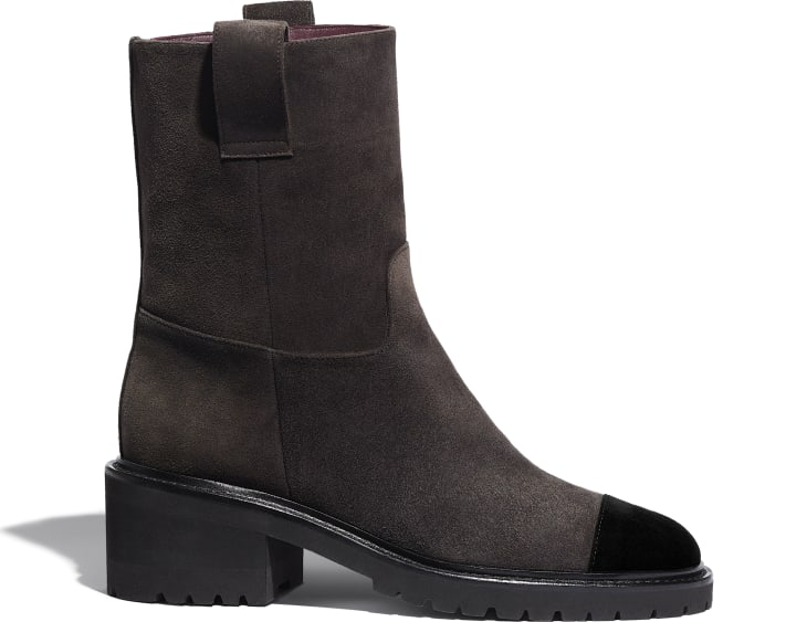 image 1 - Ankle Boots - Suede Calfskin - Brown & Black