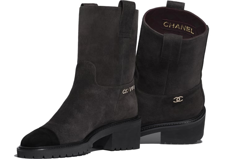image 4 - Ankle Boots - Suede Calfskin - Brown & Black