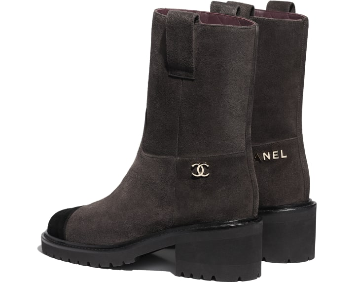 image 3 - Ankle Boots - Suede Calfskin - Brown & Black