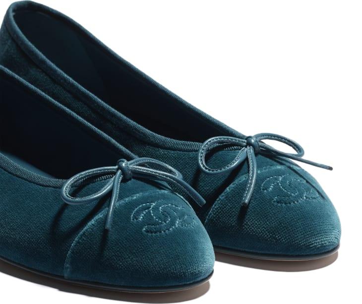 image 4 - Ballerinas - Velvet - Blue