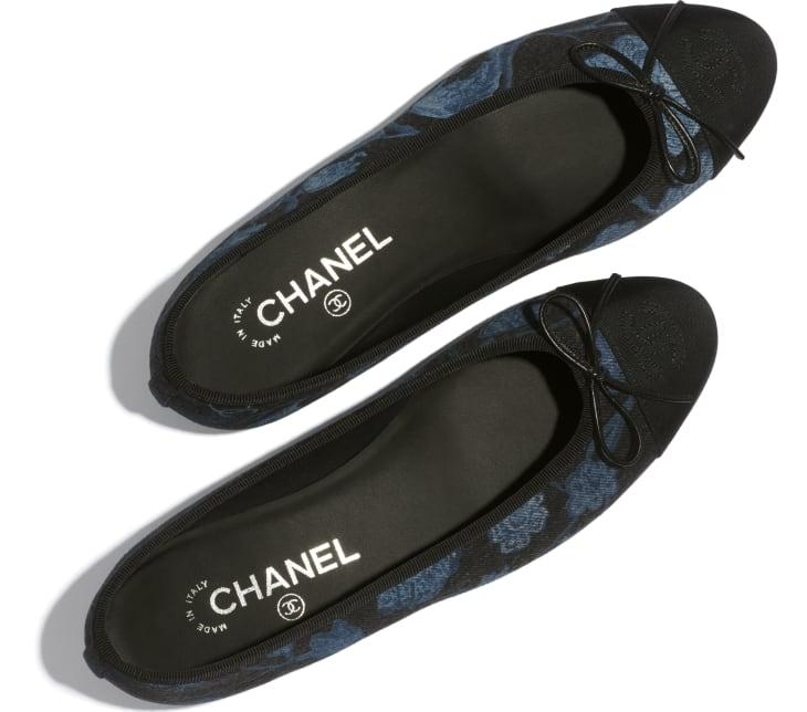 image 3 - Ballerinas - Denim & Grosgrain - Charcoal, blue & black