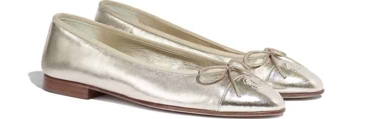 image 2 - Bailarinas - Couro De Cabra Metálico - Dourado