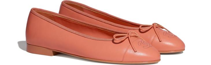 image 2 - Ballerines - Agneau - Orange fluo
