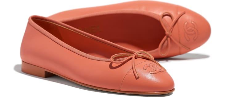 image 4 - Ballerines - Agneau - Orange fluo