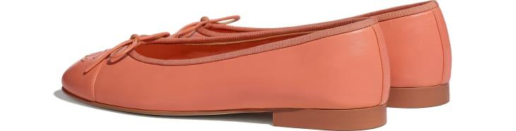 image 3 - Ballerines - Agneau - Orange fluo
