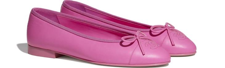 image 2 - Ballerinas - Lambskin - Neon Pink