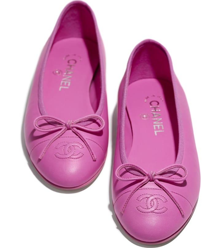 image 4 - Ballerinas - Lambskin - Neon Pink
