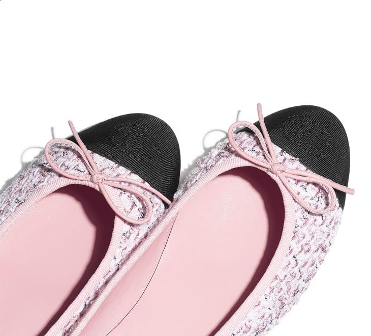 image 4 - Ballerines - Tweed & gros-grain - Rose & noir
