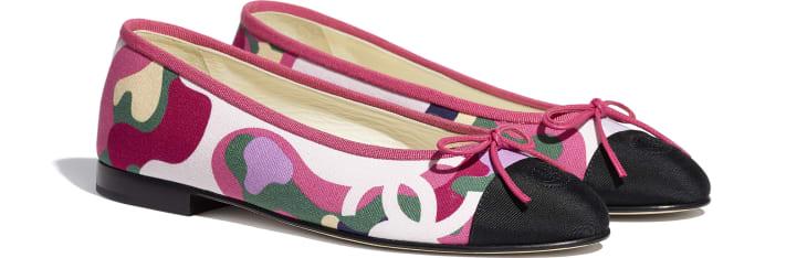 image 2 - Ballerinas - Cotton & Grosgrain - Pink, Green & Black