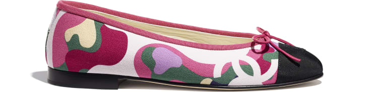 image 1 - Ballerinas - Cotton & Grosgrain - Pink, Green & Black