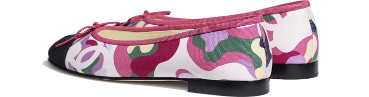 image 3 - Ballerinas - Cotton & Grosgrain - Pink, Green & Black