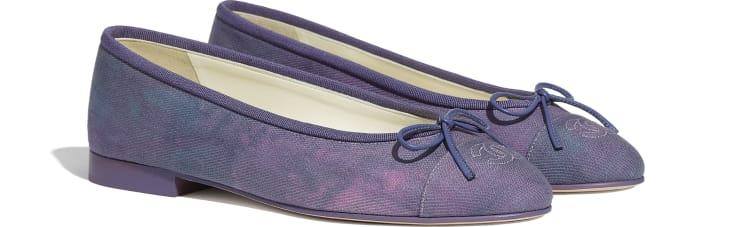 image 2 - Ballerinas - Fabric - Purple, Blue & Pink