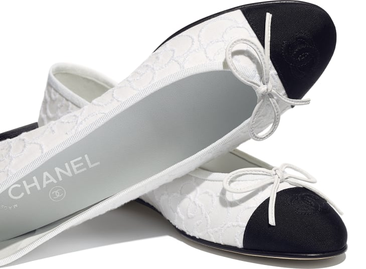 image 4 - Ballerinas - Tweed & Grosgrain - White & Black
