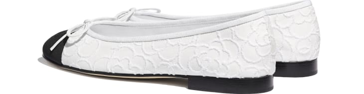 image 3 - Ballerinas - Tweed & Grosgrain - White & Black