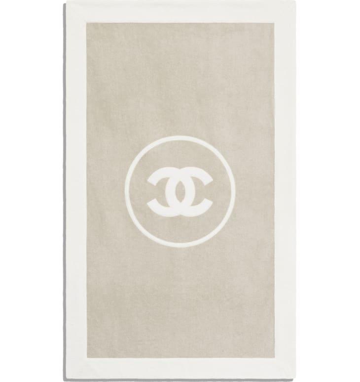 image 3 - Beachwear Set - Cotton - Beige & White