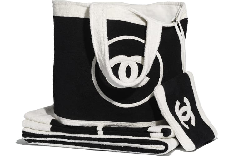 image 1 - Beachwear Set - Cotton - Black & White