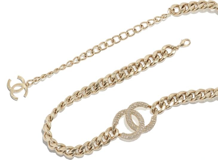 image 2 - Belt - Metal & Strass - Gold & Crystal