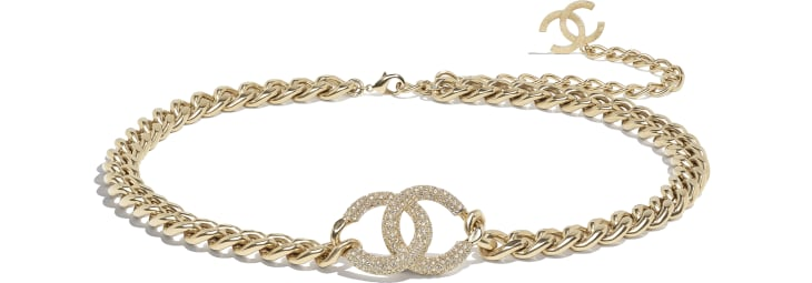 image 1 - Belt - Metal & Strass - Gold & Crystal