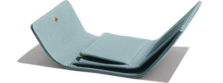 image 4 - BOY CHANEL Flap Wallet - Grained Shiny Calfskin & Gold-Tone Metal - Blue