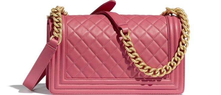 image 2 - BOY CHANEL Handbag - Calfskin & Gold-Tone Metal - Pink