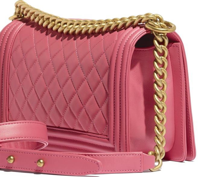 image 4 - BOY CHANEL Handbag - Calfskin & Gold-Tone Metal - Pink