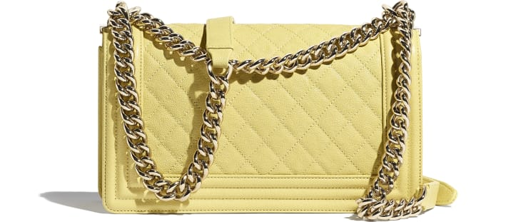 image 2 - BOY CHANEL Handbag - Grained Calfskin & Gold-Tone Metal - Yellow