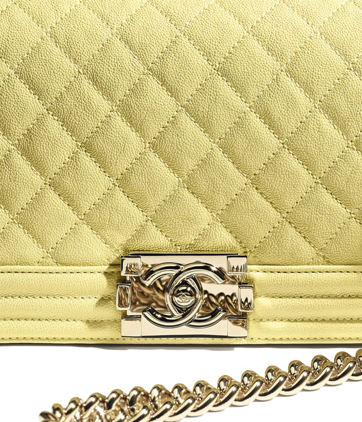 image 4 - BOY CHANEL Handbag - Grained Calfskin & Gold-Tone Metal - Yellow