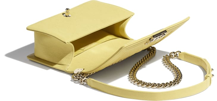 image 3 - BOY CHANEL Handbag - Grained Calfskin & Gold-Tone Metal - Yellow