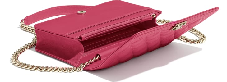 image 4 - BOY CHANEL Wallet on Chain - Grained Calfskin & Gold-Tone Metal - Pink