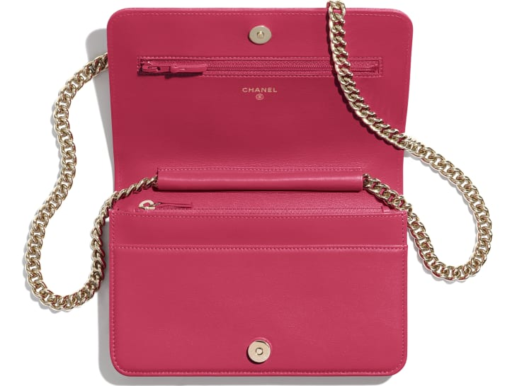 image 3 - BOY CHANEL Wallet on Chain - Grained Calfskin & Gold-Tone Metal - Pink