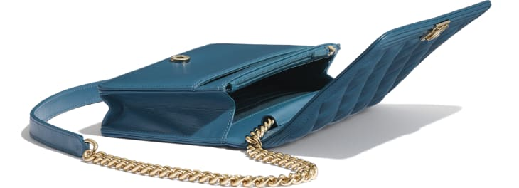 image 4 - BOY CHANEL Wallet on Chain - Lambskin & Gold-Tone Metal - Turquoise