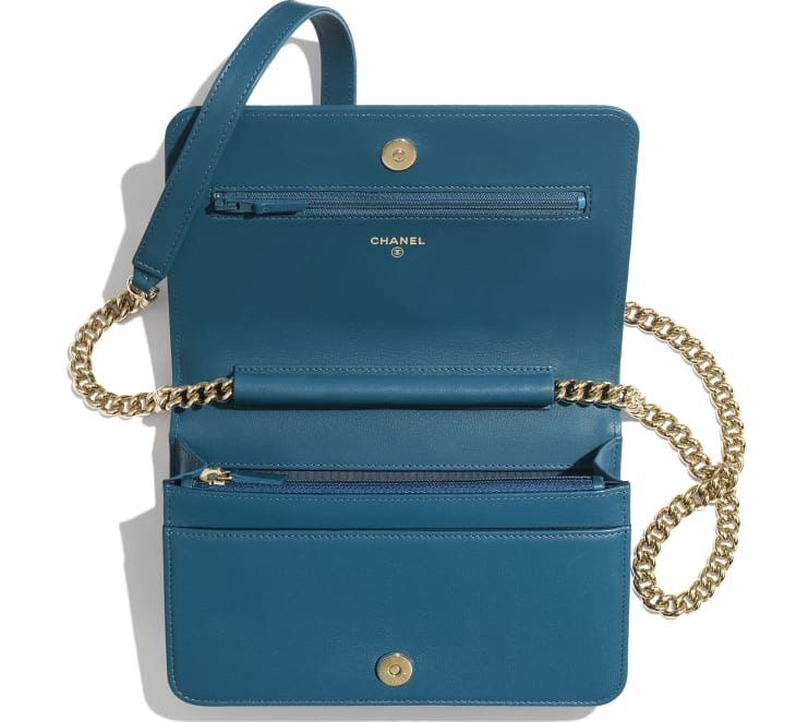 image 3 - BOY CHANEL Wallet on Chain - Lambskin & Gold-Tone Metal - Turquoise