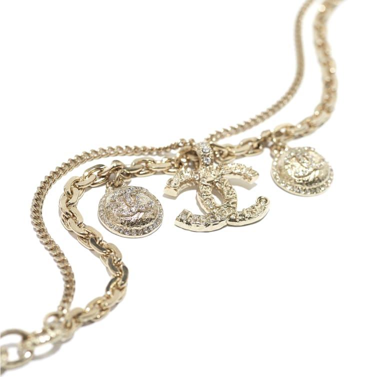 image 2 - Bracelete - Metal & Strass - Dourado & Cristal