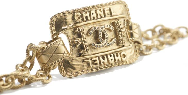image 2 - Bracelet - Metal & Strass - Gold & Crystal
