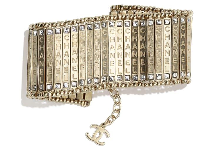 image 1 - Bracelet - Metal & Strass - Gold & Crystal