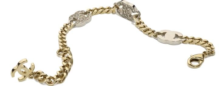image 2 - Bracelet - Metal & Strass - Gold, Silver & Crystal
