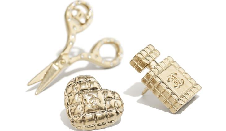 image 2 - Broche - Metal & Strass - Dourado & Cristal
