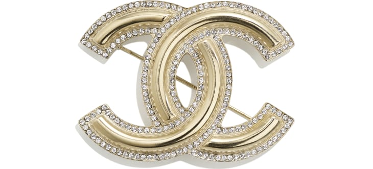 image 1 - Brooch - Metal & Diamantés - Gold & Crystal