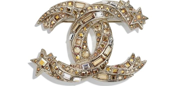 image 1 - Brooch - Metal & Strass - Gold & Crystal