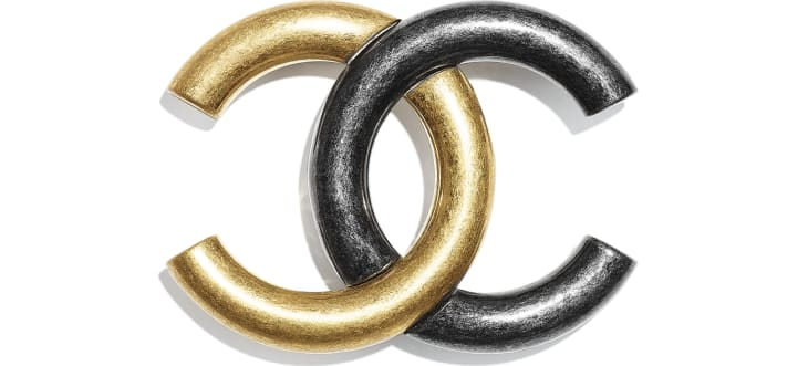 image 1 - Brooch - Metal - Gold & Ruthenium